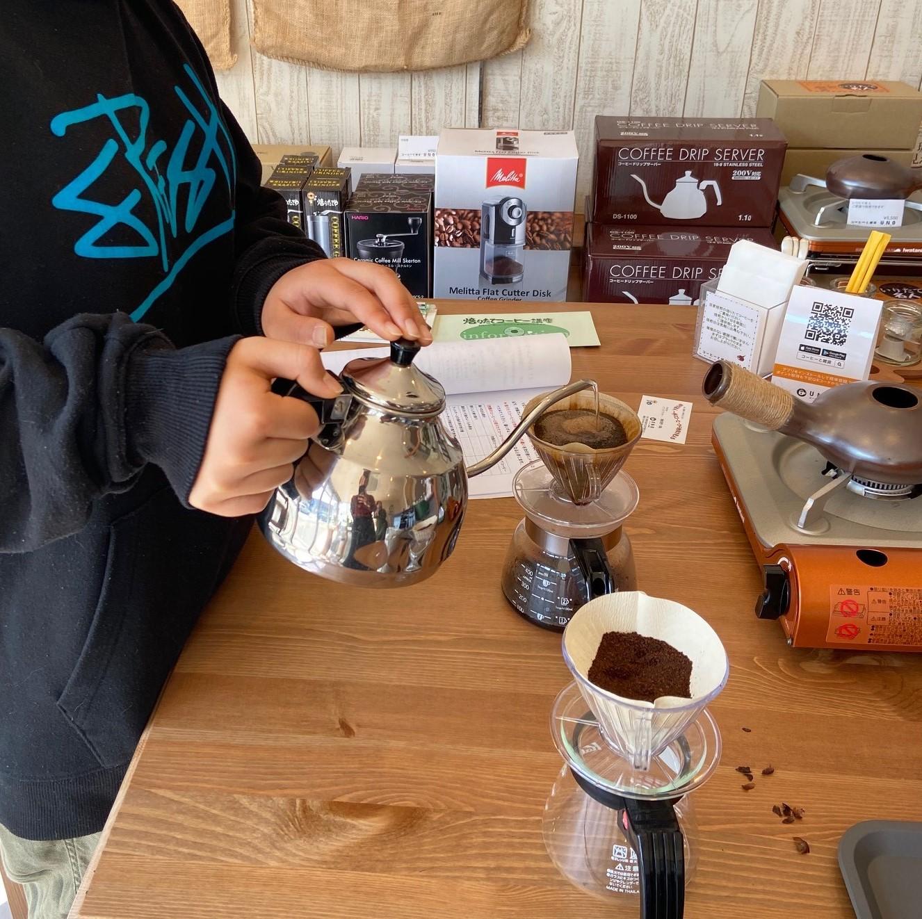 焙煎から始める!コーヒー焙煎教室も好評開催中